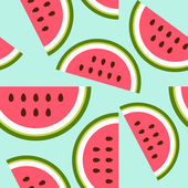 Baby and kids style abstract geometric background, cute seamless pattern with watermelon — Stockvektor
