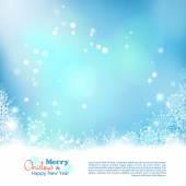 Christmas Abstract Bokeh Vector Background — Stockvector