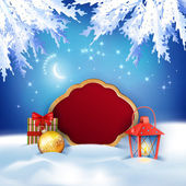 Christmas Winter Night Background — Foto Stock