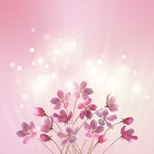 Shining pink flowers background — Stock Vector