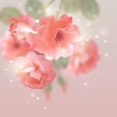 Shining vector flowers roses  — Vector de stock
