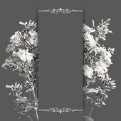 Vector Floral Romantic Card — Stock Vector