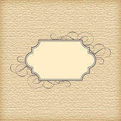 Vector Textured Background and Vintage Frame — Stock Vector