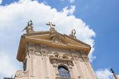 Facede of church in Como city, Italy — Stock Photo