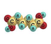 Molecola di acido adipico isolato su bianco — Foto Stock