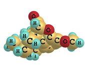 Hydrocodone molecule isolated on white — ストック写真