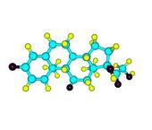 Prednisone molecule isolated on white — Stock Photo