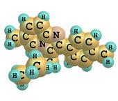 Zolpidem-Moleküls isoliert auf weiss — Stockfoto