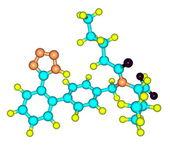 Valsartan molecular model isolated on white — Stock Photo