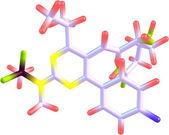 Rosuvastatin molecule isolated on white — Stock Photo