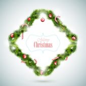 Greeting Card With Christmas Attributes. — Stock Vector