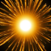 Dazzle Explosion In the Space. — Stock Vector