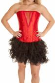 Red corset with black tutu — 图库照片