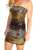 Sequin dress — Stock Photo