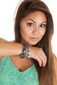 Silver bracelets. — Stock Photo