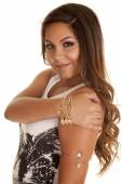 Woman with bracelets — Stock Photo