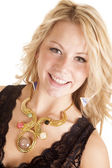 Golden necklace — Stock Photo
