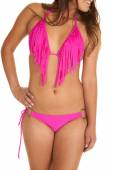 Fringe swim suit pink — Stock Photo