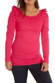 Woman in her pink top — Stock Photo