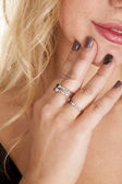 Black stone rings — Stock Photo