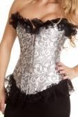 Close up silver corset — Stock Photo