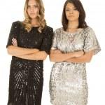 Women in shiny dresses — Stock Photo #57937073