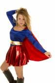 Woman in her super hero costume — Stock Photo