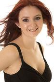 Retrato de mujer de pelo rojo — Foto de Stock