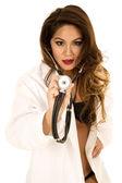 Woman doctor in bikini — Fotografia Stock