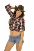 Beautiful cowgirl woman — Stock Photo