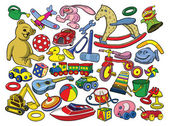 Set of vintage toys — Stock Vector