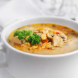 Pea soup with mushrooms — Stock Photo #56138107