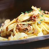 Pasta tagliatelle bolognese — Stock Photo