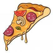 Pizza slice — Stock Vector