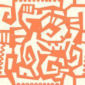 Ethnic Seamless Pattern 3 — Stock Vector