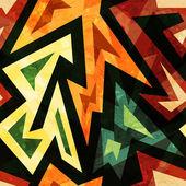 グランジ効果とアフリカのシームレスなパターン — ストックベクタ