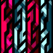 Vintage crystal geometric seamless pattern — Stock Vector