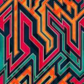 Fantastic maze seamless pattern — Stock Vector