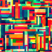 Bright color square seamless pattern — Stock Vector