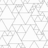 Monochrome triangle seamless pattern — Stock Vector
