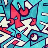 Futuristic blue seamless pattern with grunge effect — Wektor stockowy