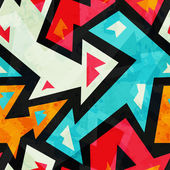 Graffiti arrows seamless pattern with grunge effect — Stock vektor