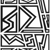 Monochrome geometric seamless pattern — Stock Vector