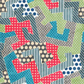 Colorful retro textile seamless pattern — Stock vektor