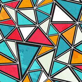 Triangle seamless pattern with grunge effect — Stock vektor