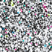 Urban triangle seamless pattern with grunge effect — Stock vektor