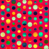 Bright circle seamless pattern with grunge effect — Stock vektor
