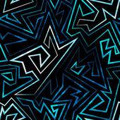 Blue neon seamless pattern — Stock Vector