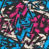 Blauwe grunge naadloze patroon — Stockvector