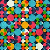 Colored circle seamless pattern — Stock Vector